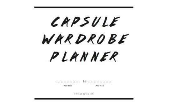 Capsule planner via Unfancy