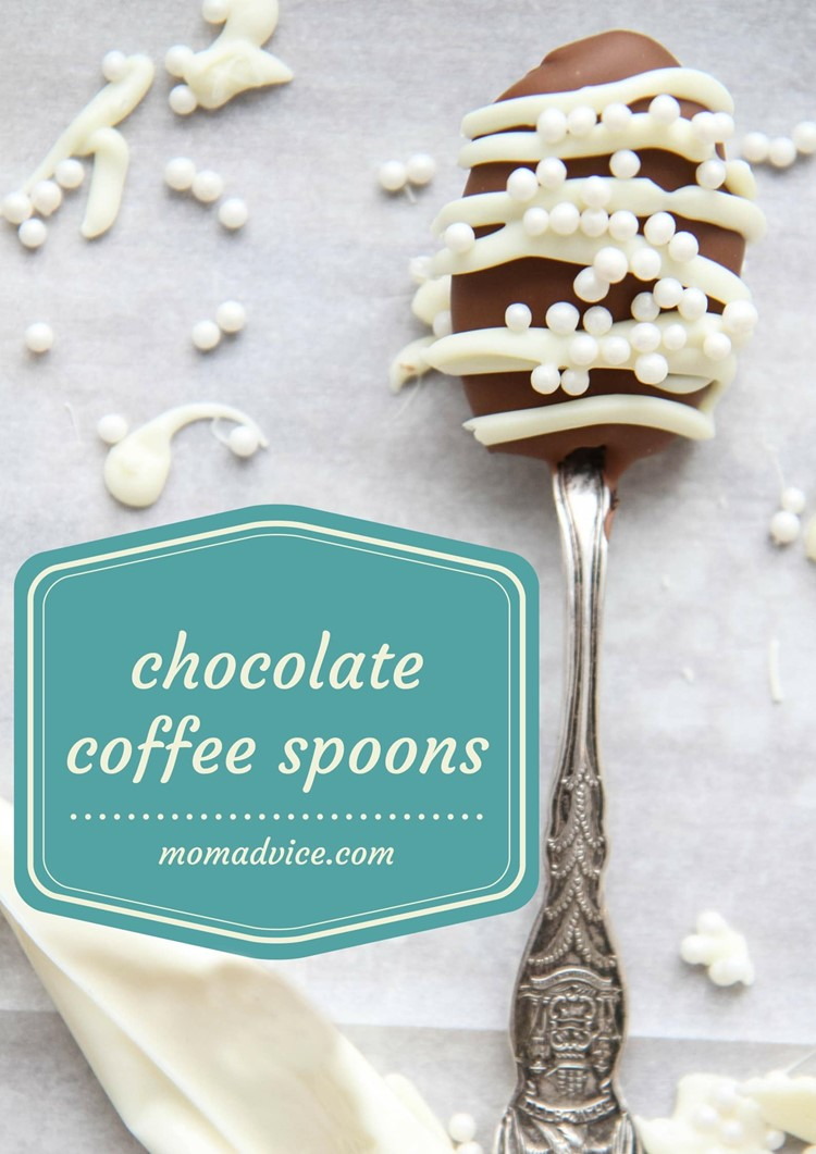 How to Make Chocolate Coffee Spoons from MomAdvice.com