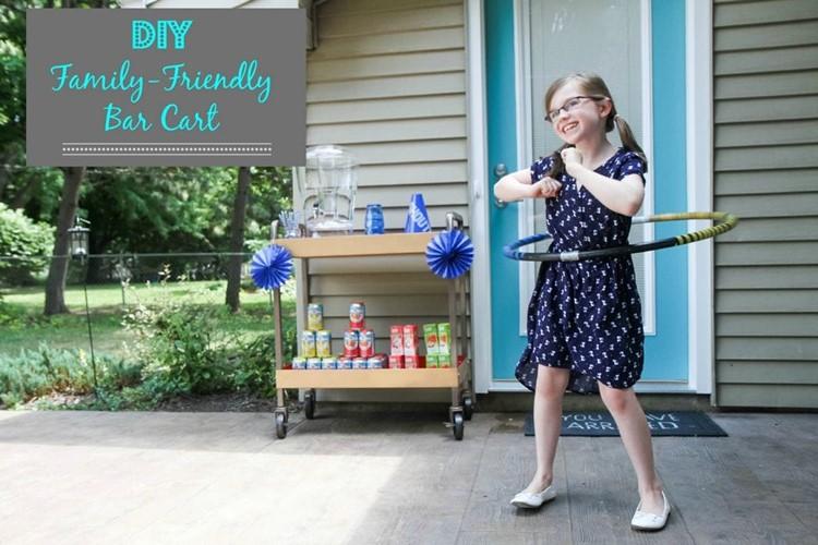 Diy Family-Friendly Bar Cart