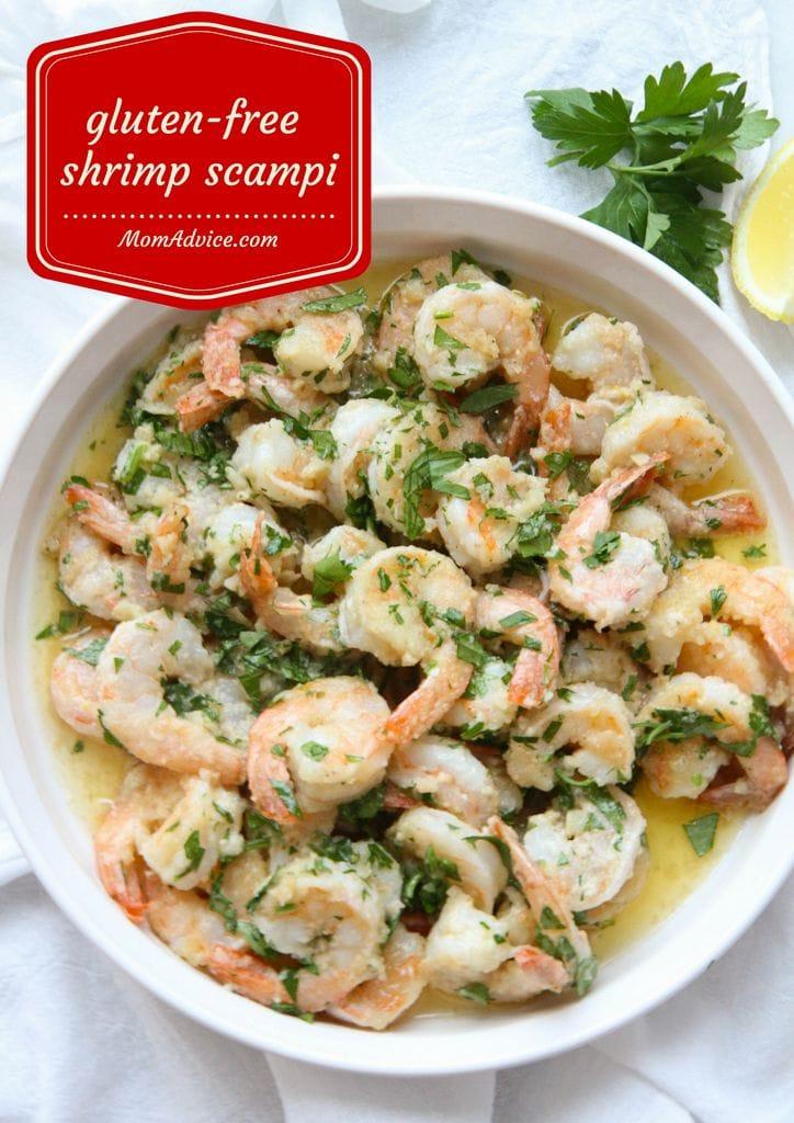 Gluten-Free Shrimp Scampi from MomAdvice.com