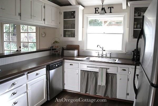 $1200 Farmhouse Kitchen Remodel via An Oregon Cottage