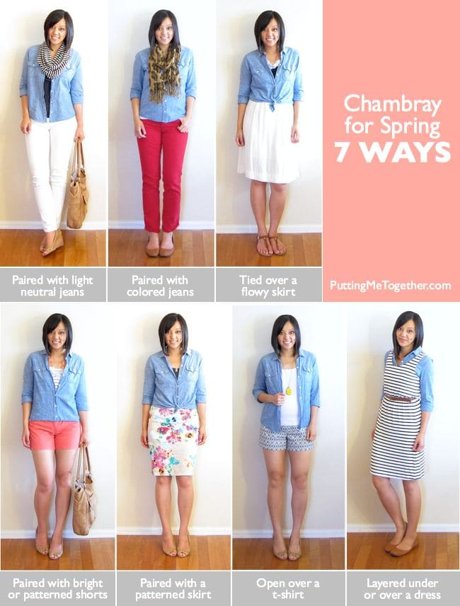 7 Ways to Wear Chambray via Putting Me Together