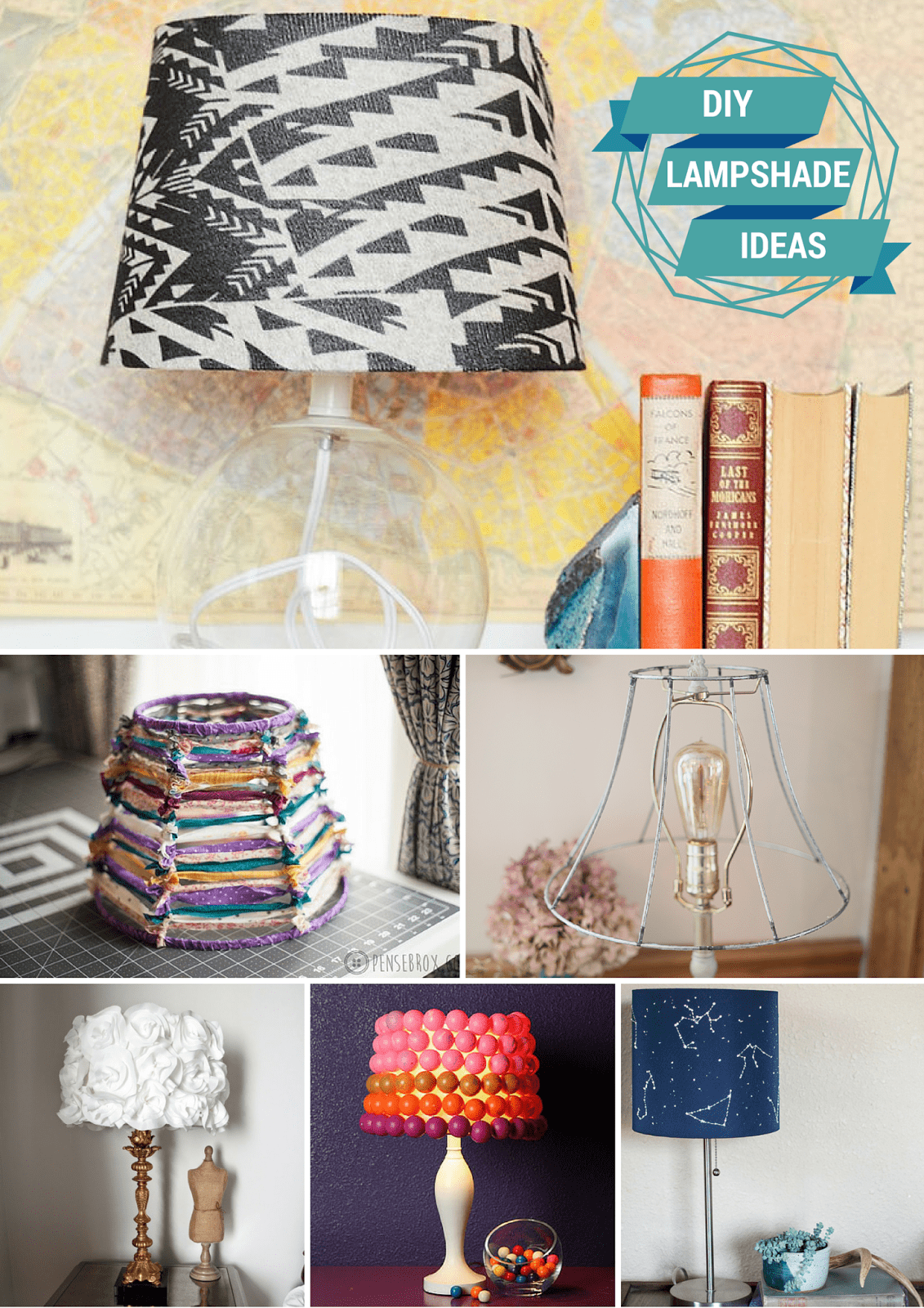 DIY Lampshade Ideas from MomAdvice.com