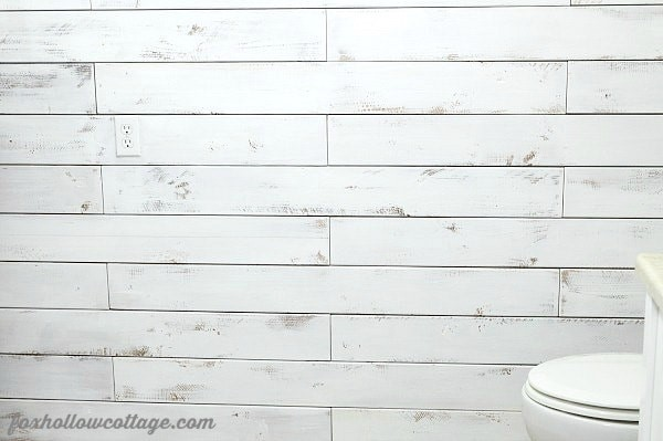 DIY-Plank-Wall-with-Fence-Boards via Fox Hollow Cottage