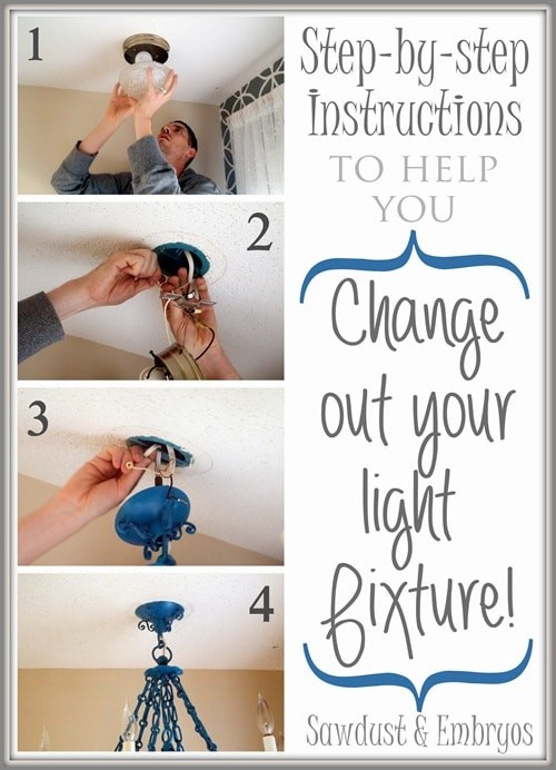 Install a new light fixure via Sawdust and Embryos