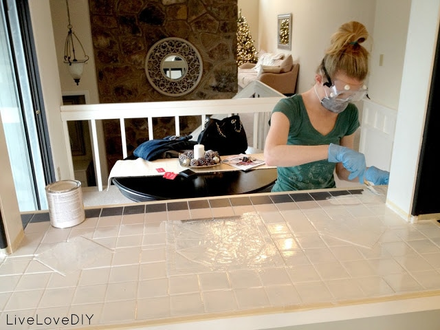 Painting Tile via Live Love DIY