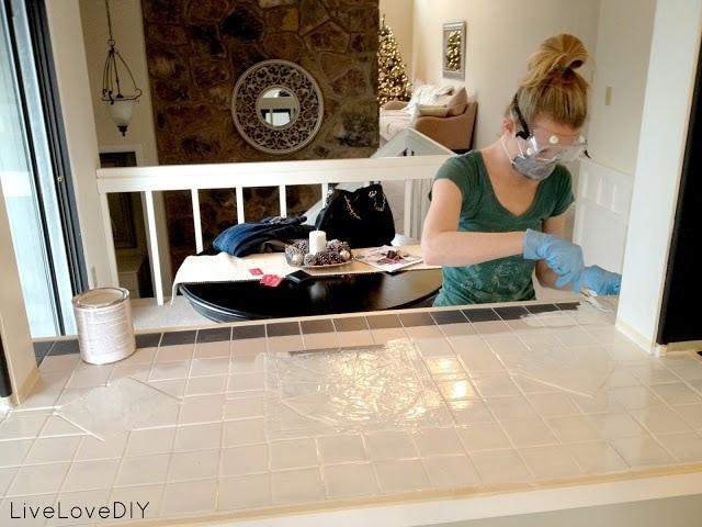 Painting Tile via Live Love DIY