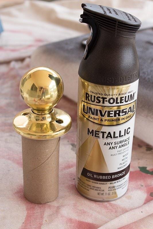 Spray Paint Door-Knobs via Handle The Heat