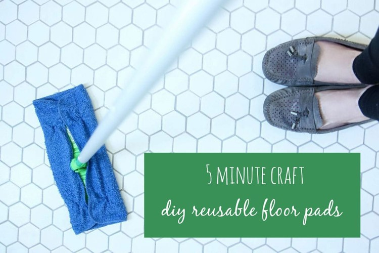 DIY Reusable Floor Pads from MomAdvice.com
