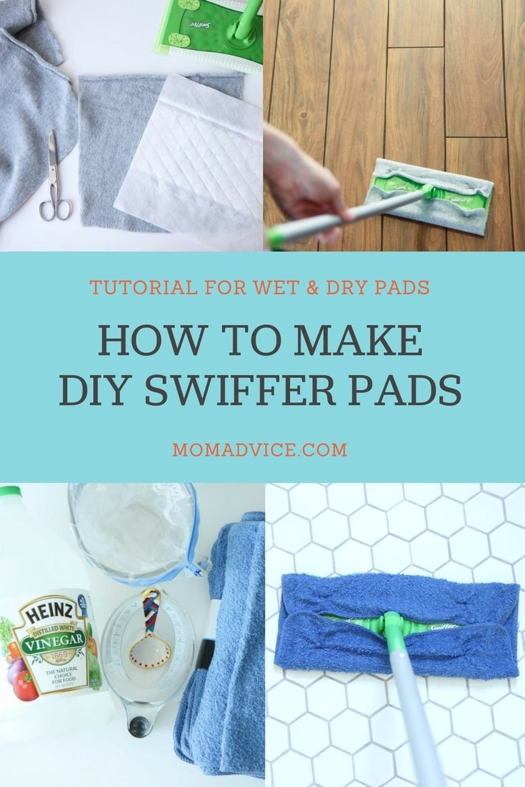 DIY Wet and Dry Swiffer Pads Tutorial from MomAdvice.com