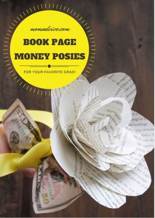 DIY Money Book Page Posies