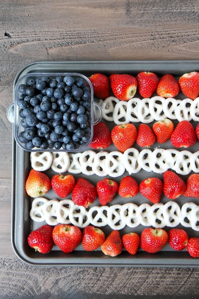 4th of July Flag Fruit Dessert Tray