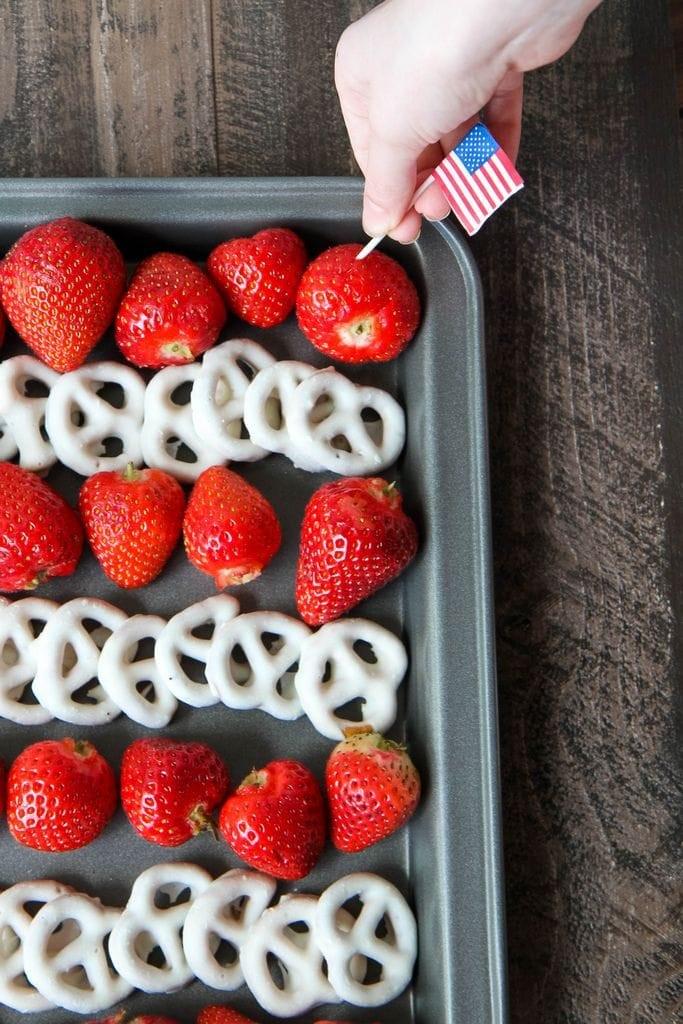 4th of July Flag Fruit Dessert Tray