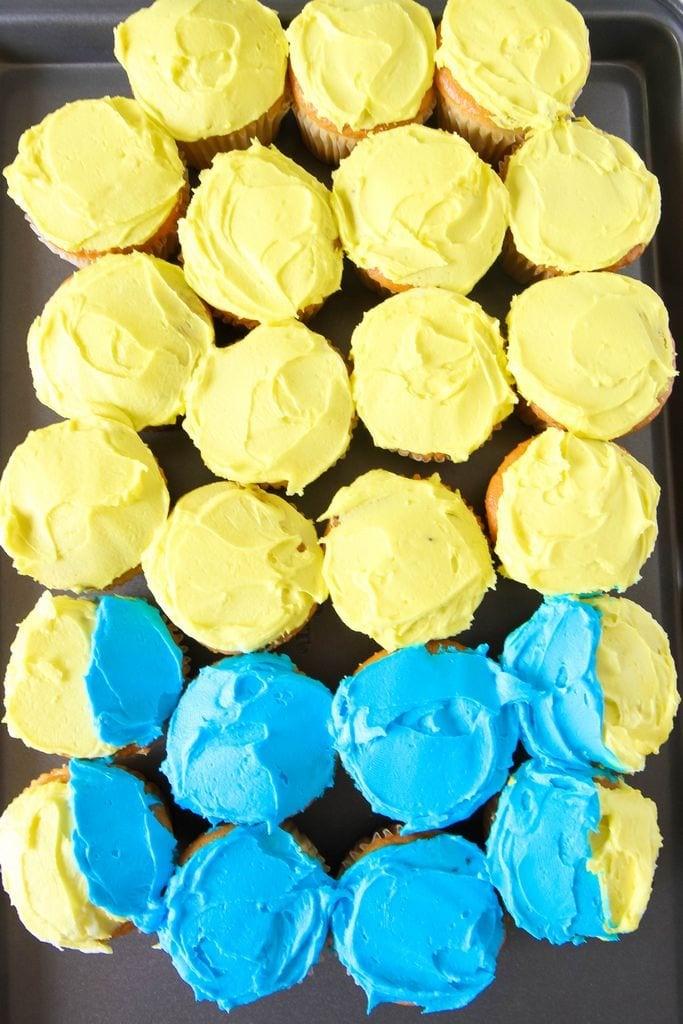 MINIONS Backyard Bash & Easy Cupcake Minion Tutorial from MomAdvice.com #MinionsParty