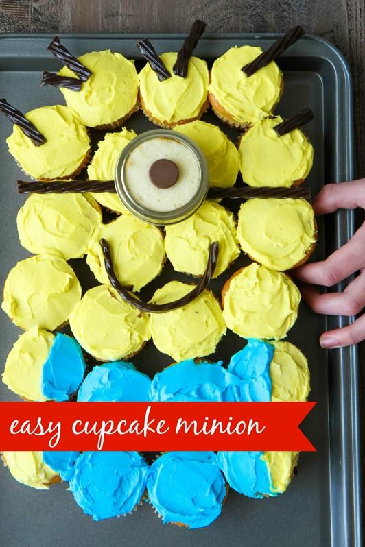 MINIONS Backyard Bash & Easy Cupcake Minion Tutorial