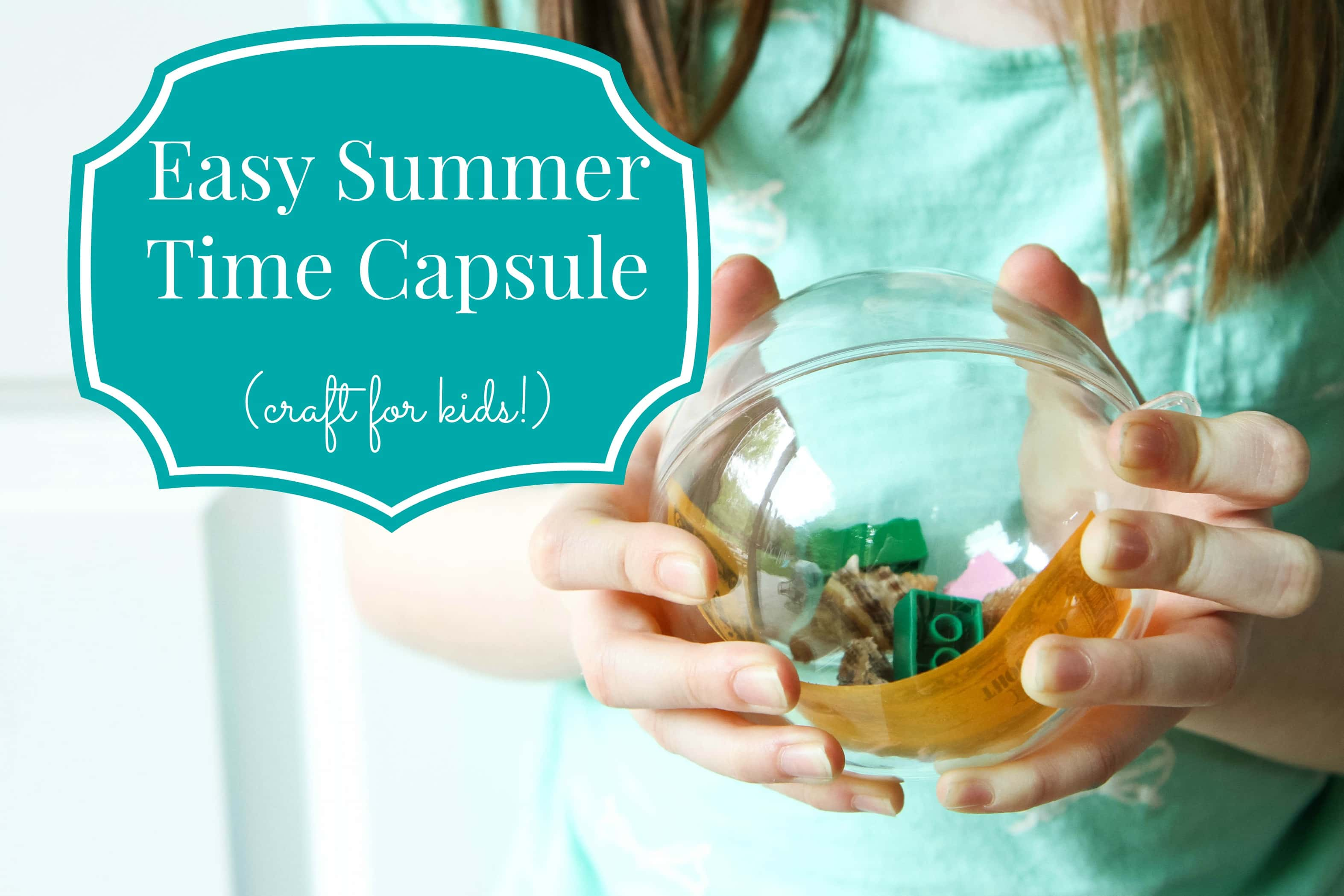 Easy DIY Summer Time Capsule for Kids from MomAdvice.com.