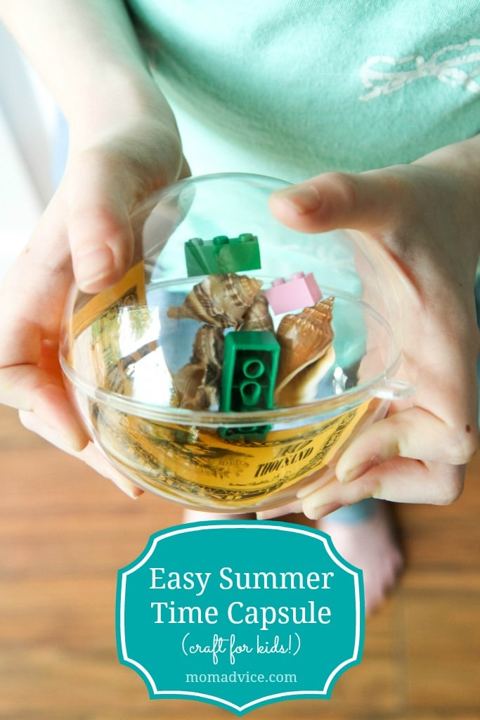 Make an easy summer time capsule- a great activity for the whole family!