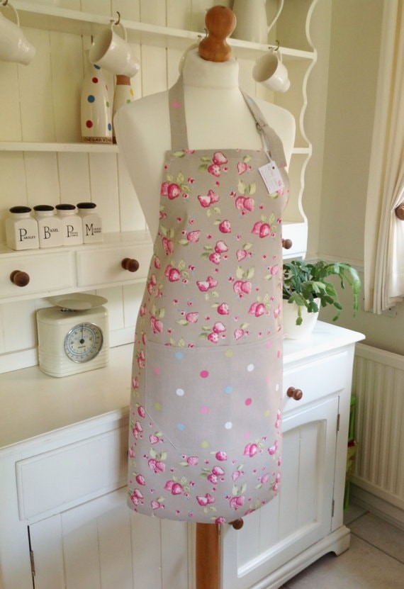 Strawberries apron via Etsy