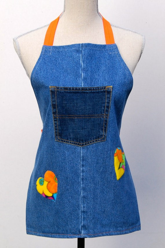 Upcycled Denim Apron via Etsy