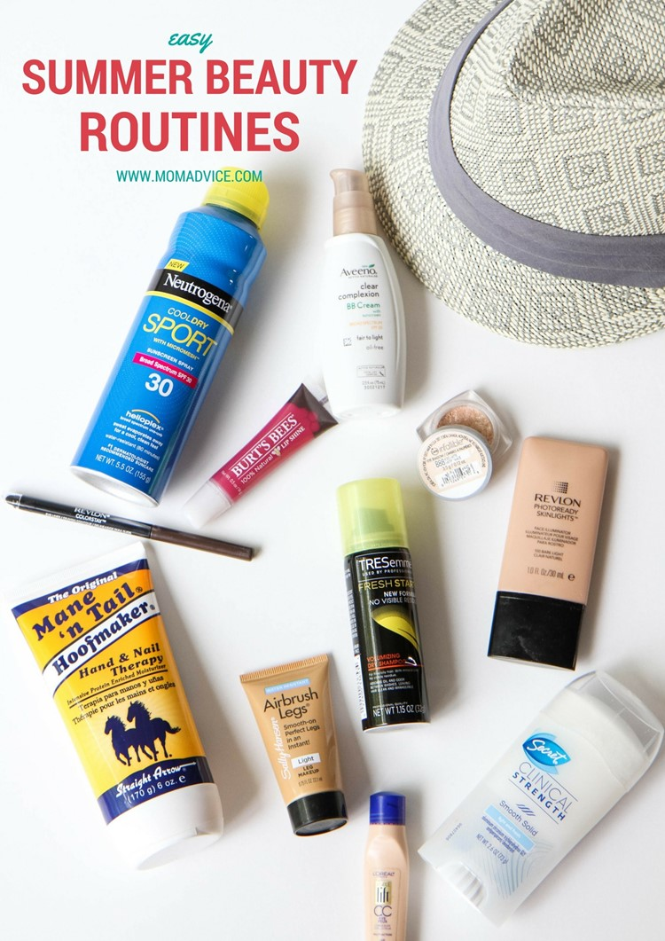 Easy Summer Beauty Routines from MomAdvice.com