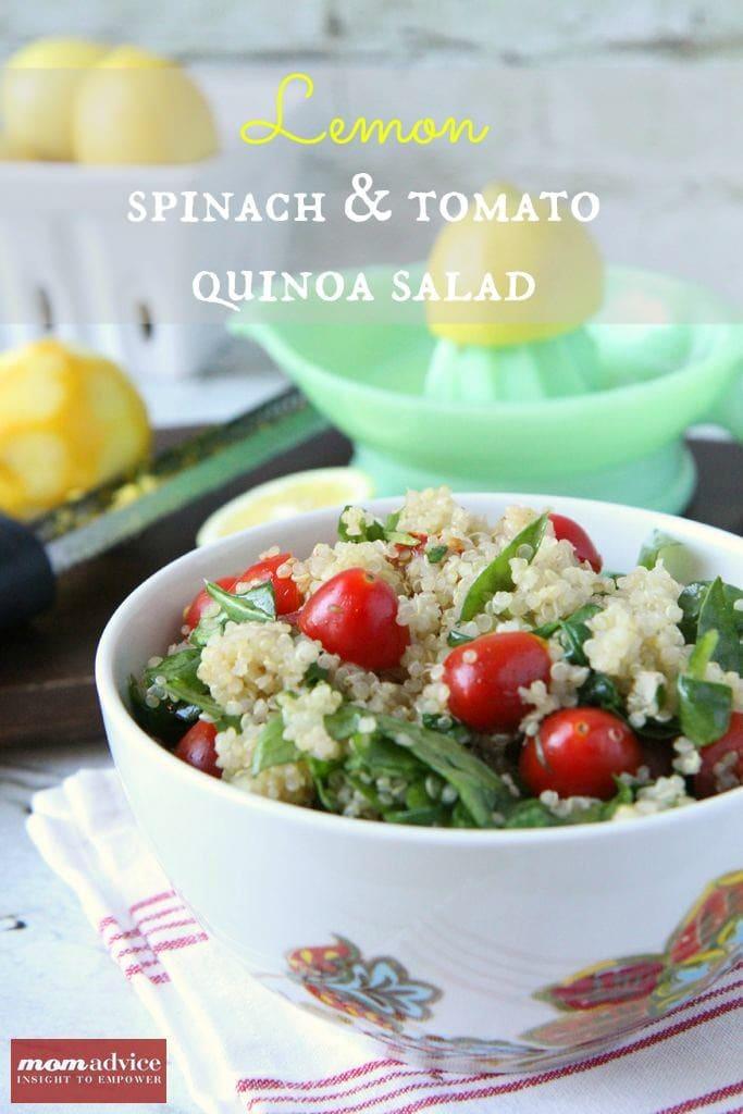 Lemony Spinach & Tomato Quinoa Salad