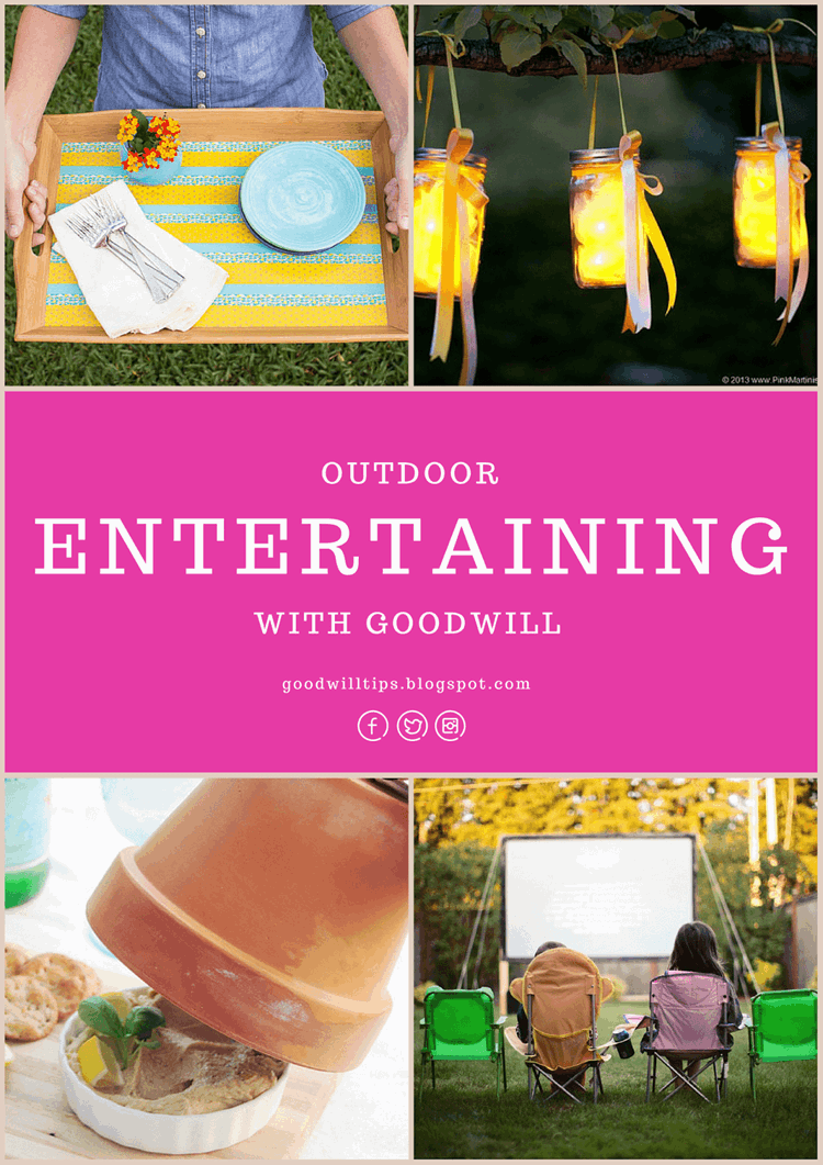 Beautiful Ideas for Outdoor Entertaining With Goodwill from MomAdvice.com