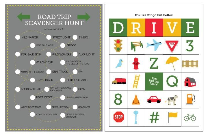Free Printable Travel Games from MomAdvice.com