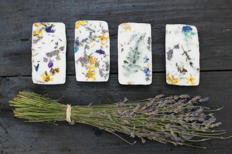 DIY wildflower soap via Kelle Hampton blog