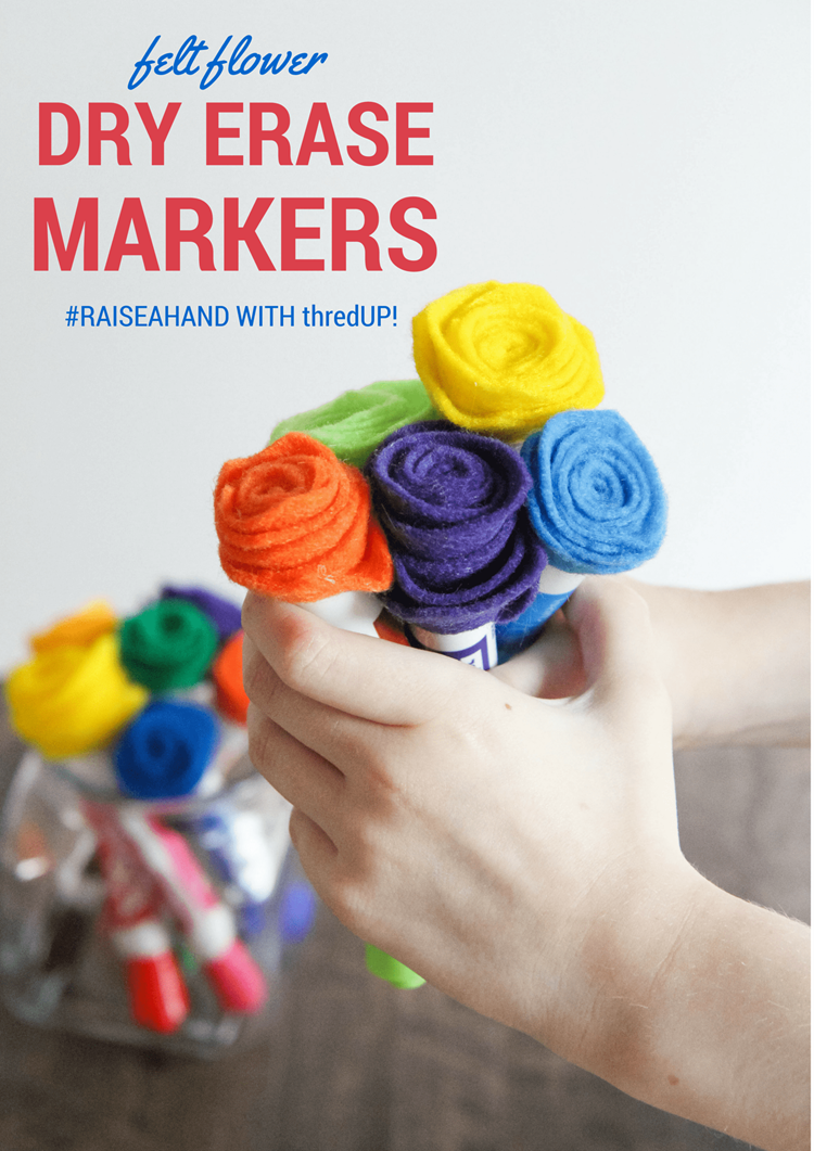 Raise A Hand for Teachers With thredUP (Felted Flower Dry Eraser Marker Bouquets) from MomAdvice.com