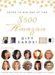 Huge Summer Giveaway: $500 Amazon Gift Cards (2 Winners!)