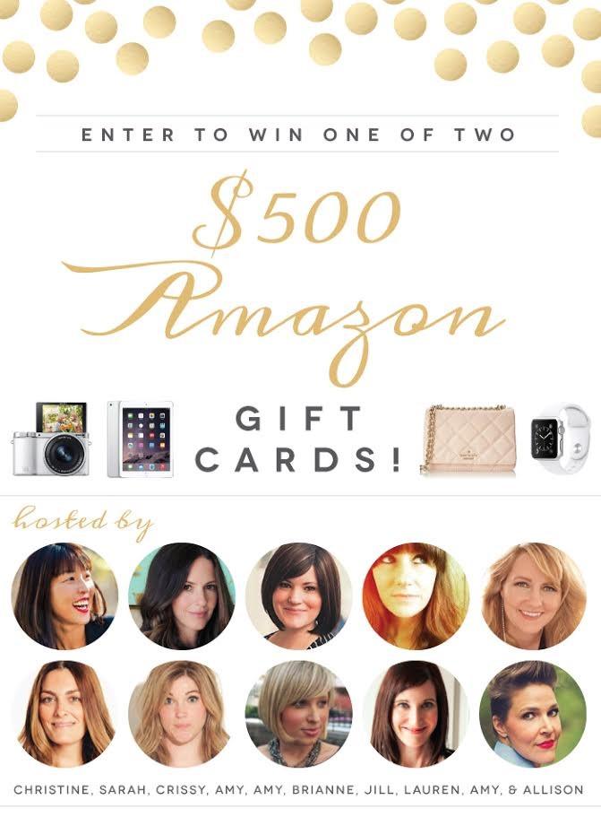 $500 Amazon Gift Cards (2 Winners!)
