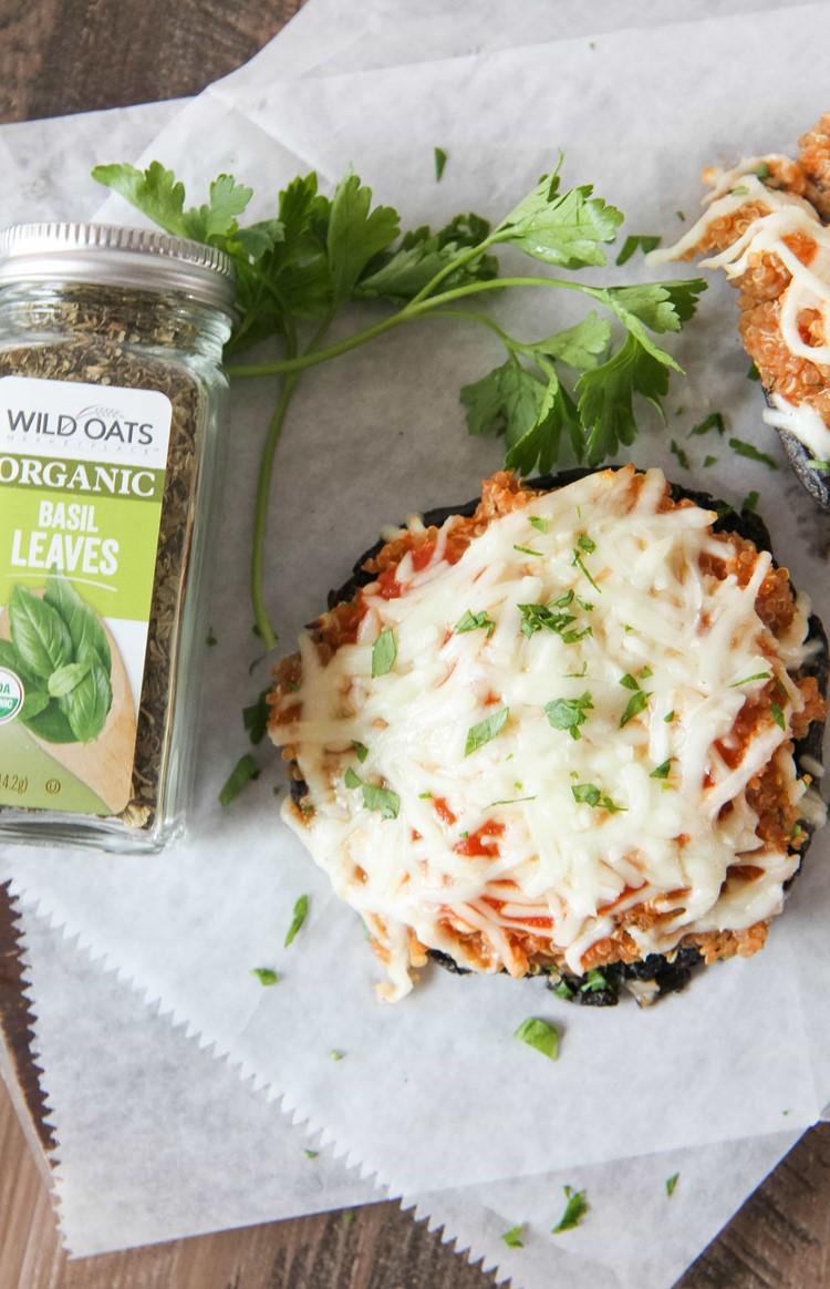 Pizza Quinoa Mushrooms
