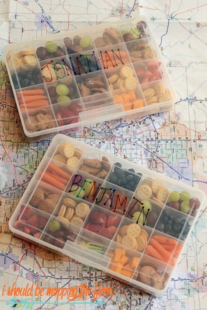 Road Trip Snack Boxes via I Should Be Mopping The Floor