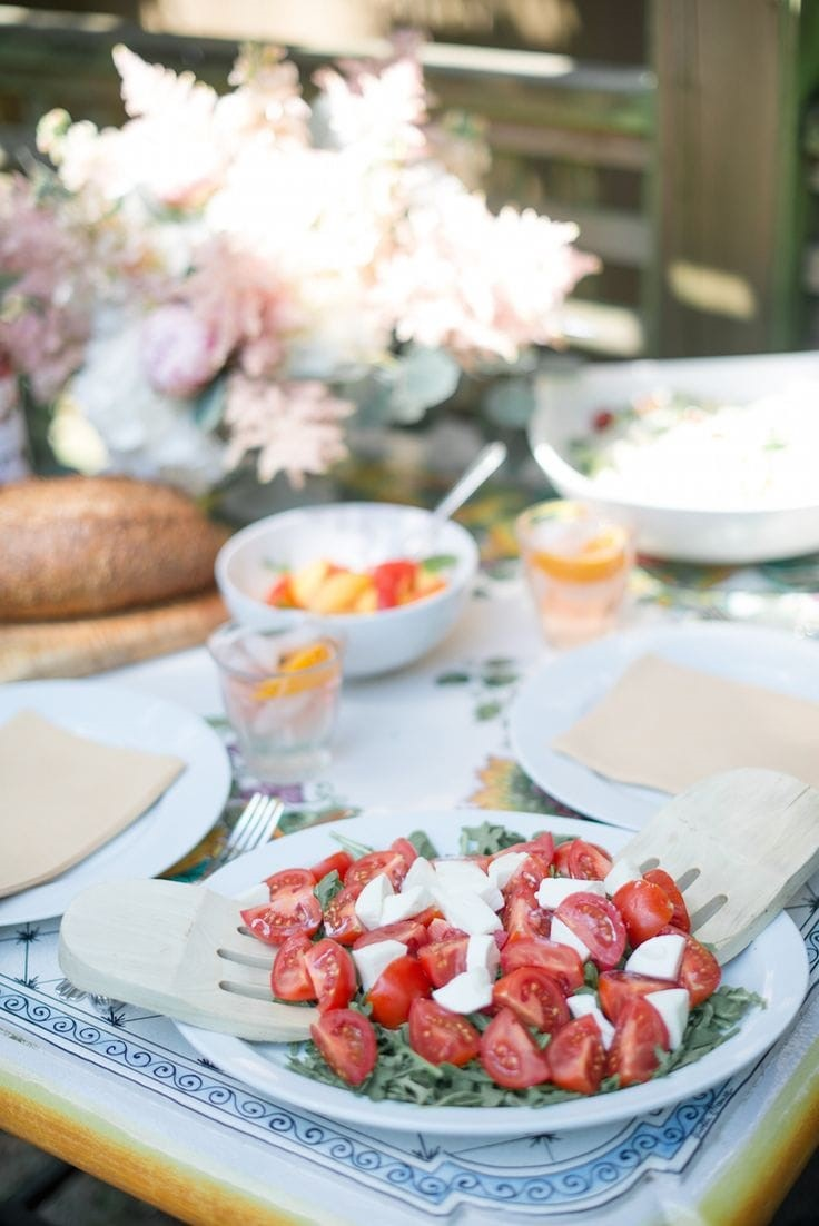 Roman Caprese salad via Camille Styles