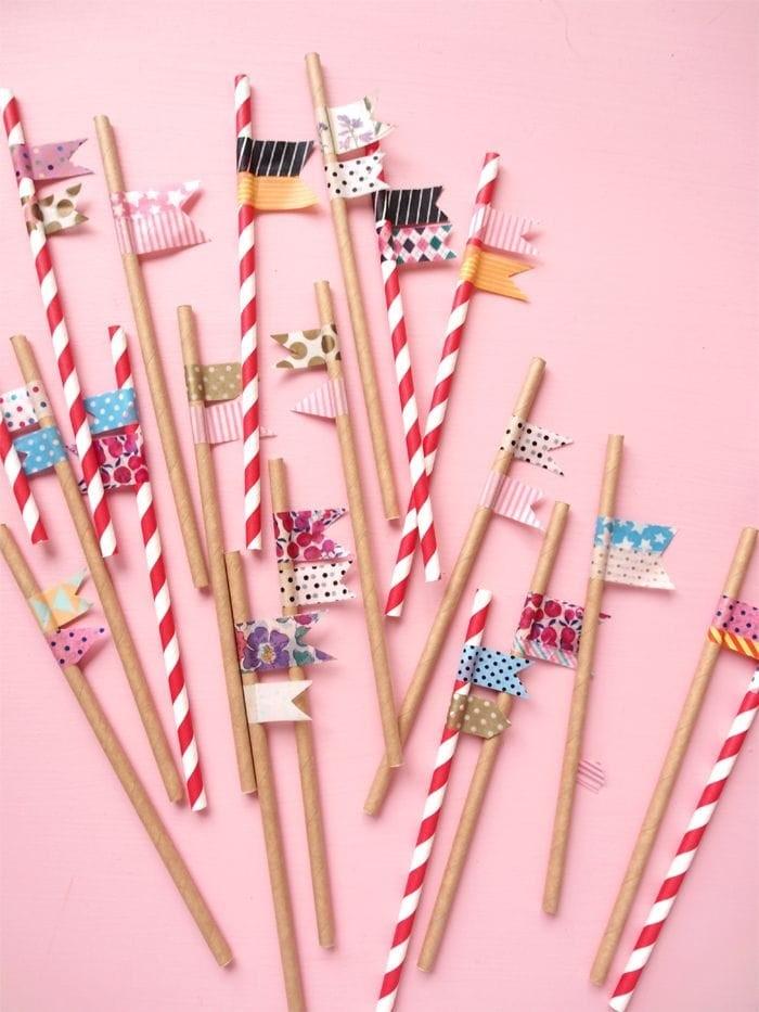 Washi Tape Straws via Paper & Pin