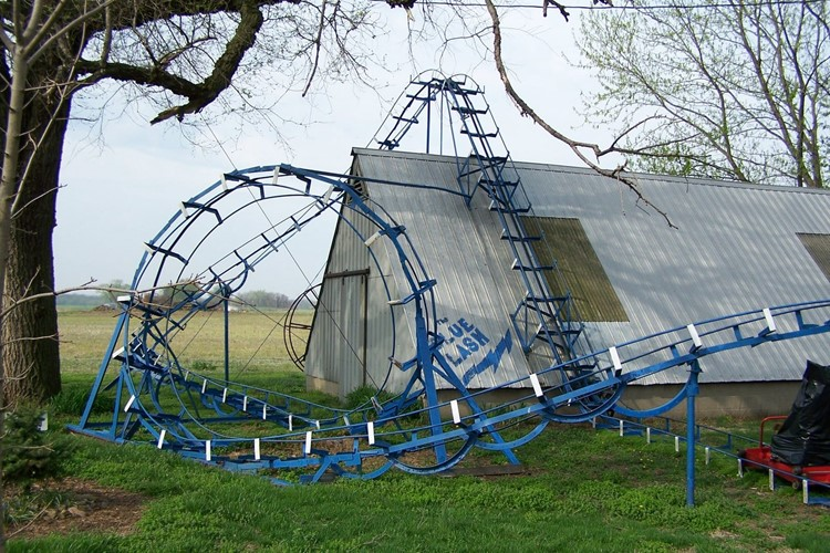 Blue Flash Roller Coaster