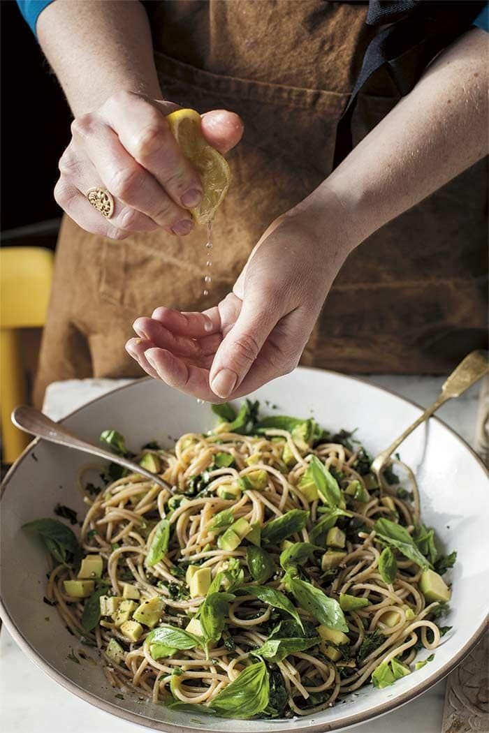 Avocado-Lemon Zest Pasta via Design Sponge
