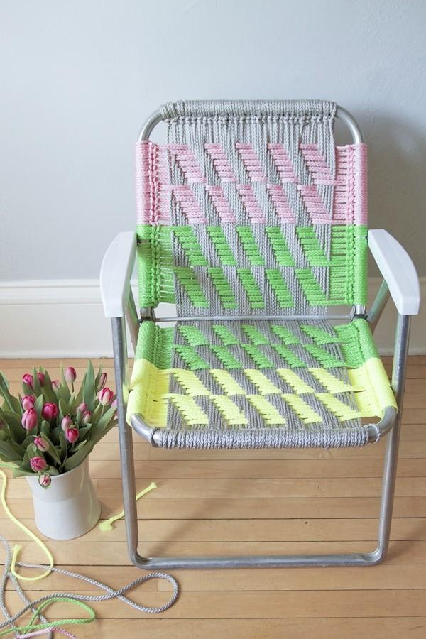 DIY Macrame Chair via Mollie Makes