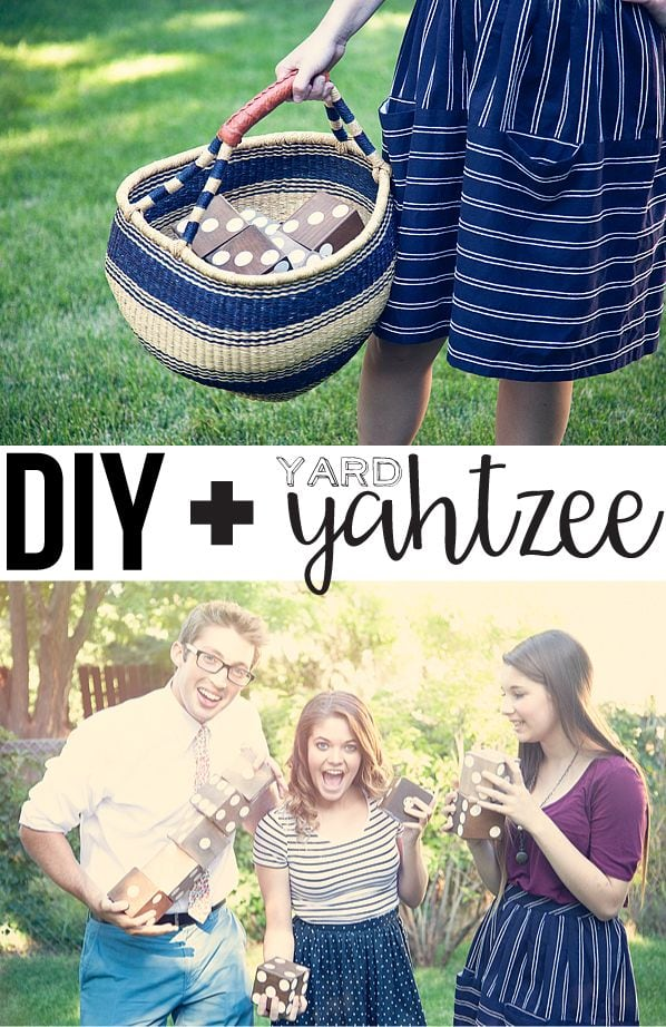 DIY Yard Yahtzee via Whipper Berry
