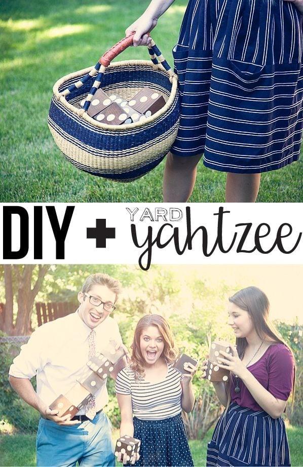 DIY Yard Yahtzee via Whipper Berry