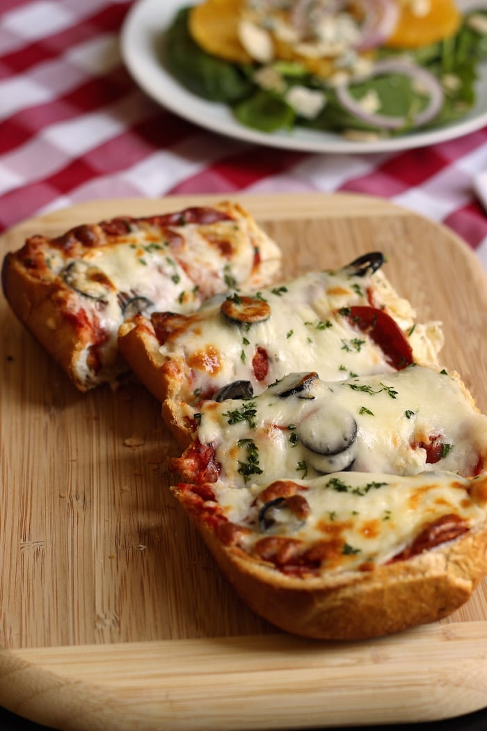 French Bread Pizza from Good Cheap Eats