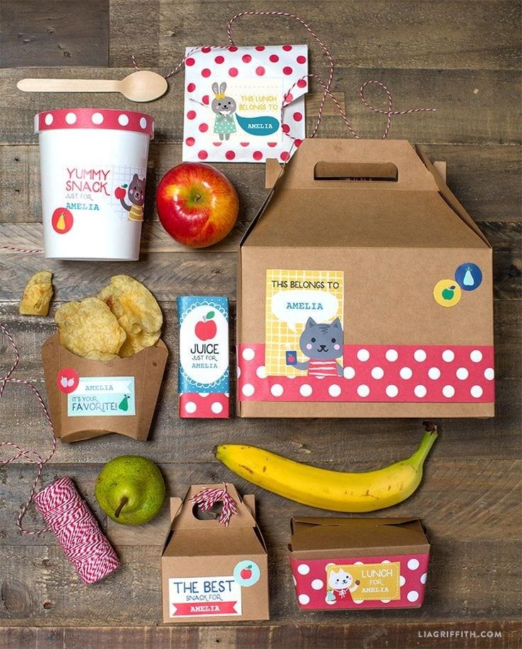 Lunch Box Labels via Lia Griffith