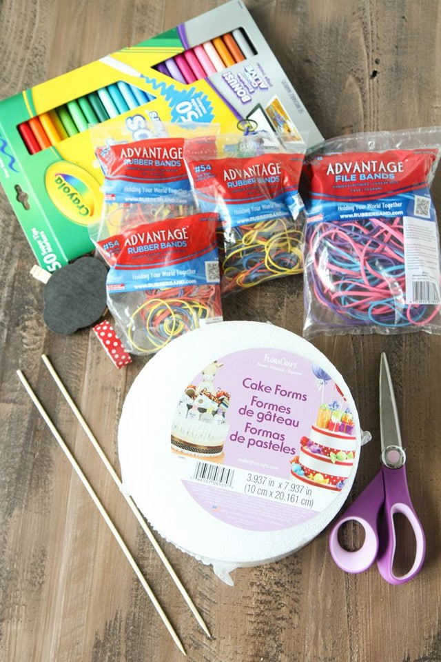 School supplies cake-items needed.