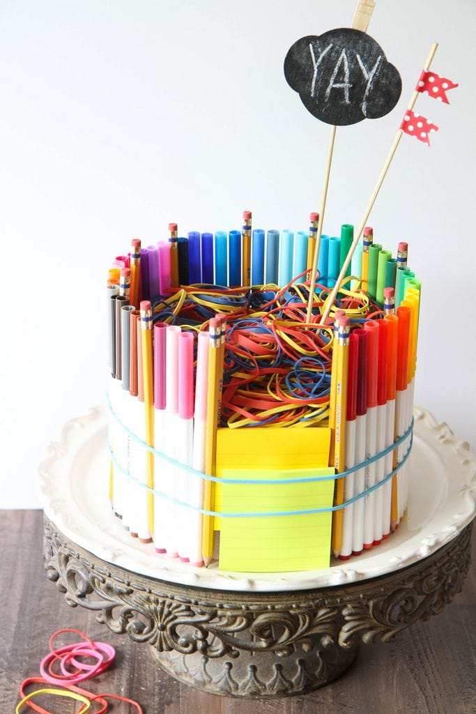 How to Make a School Supplies Cake from MomAdvice.com.