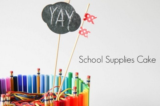 How to Make a School Supplies Cake