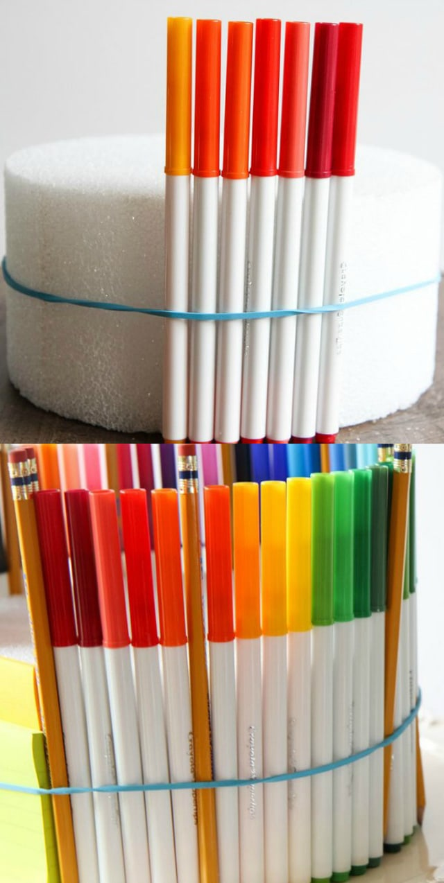 School supplies cake tutorial