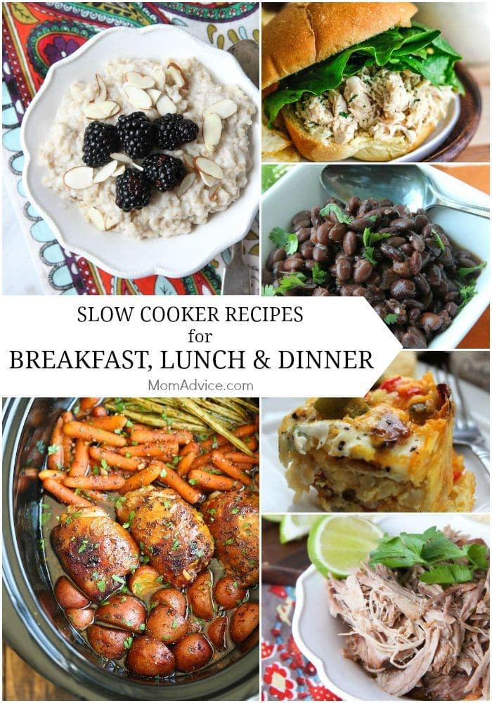 Slow Cooker Recipes for Breakfast, Lunch, and Dinner