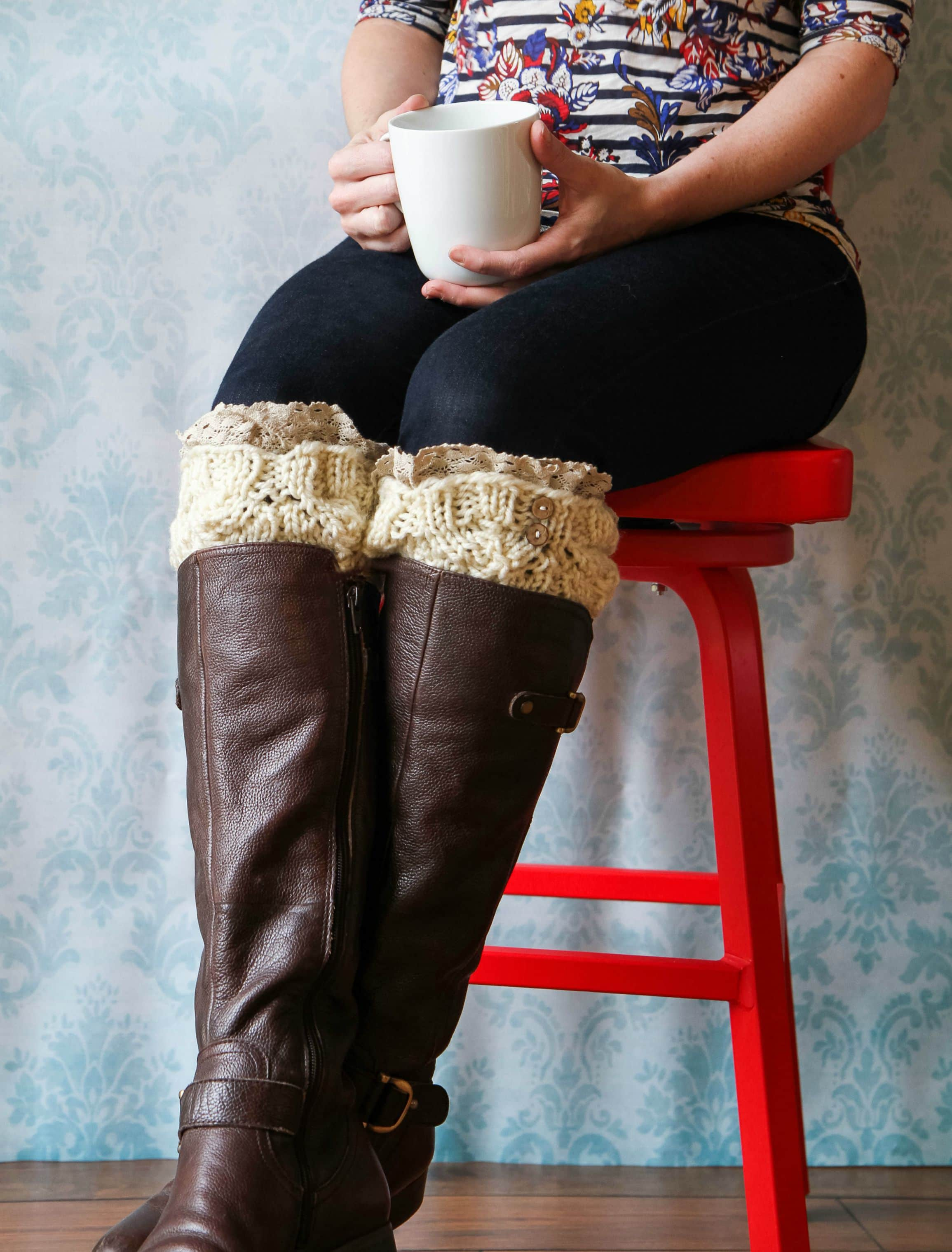 Hazel & Ruby Crafternoon Knitted Boot Cuff