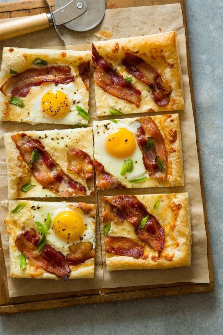 Breakfast Tart via Spoon Fork Bacon