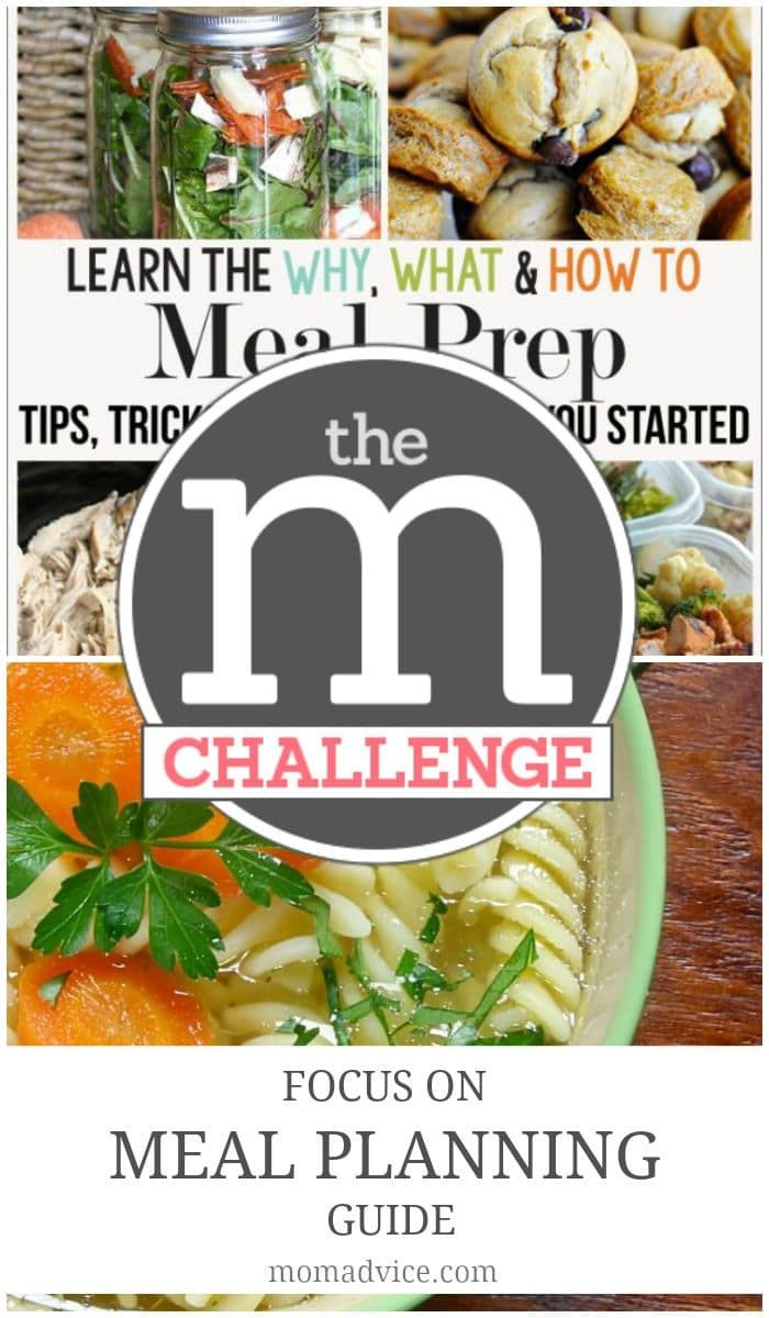 M Challenge Focus on Meal Planning Guide a notebook full of tips, tricks & recipe links